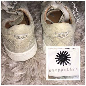 814ffebf4bc UGG Shoes - Ugg Milo Stardust Silver Metallic Suede Sneakers